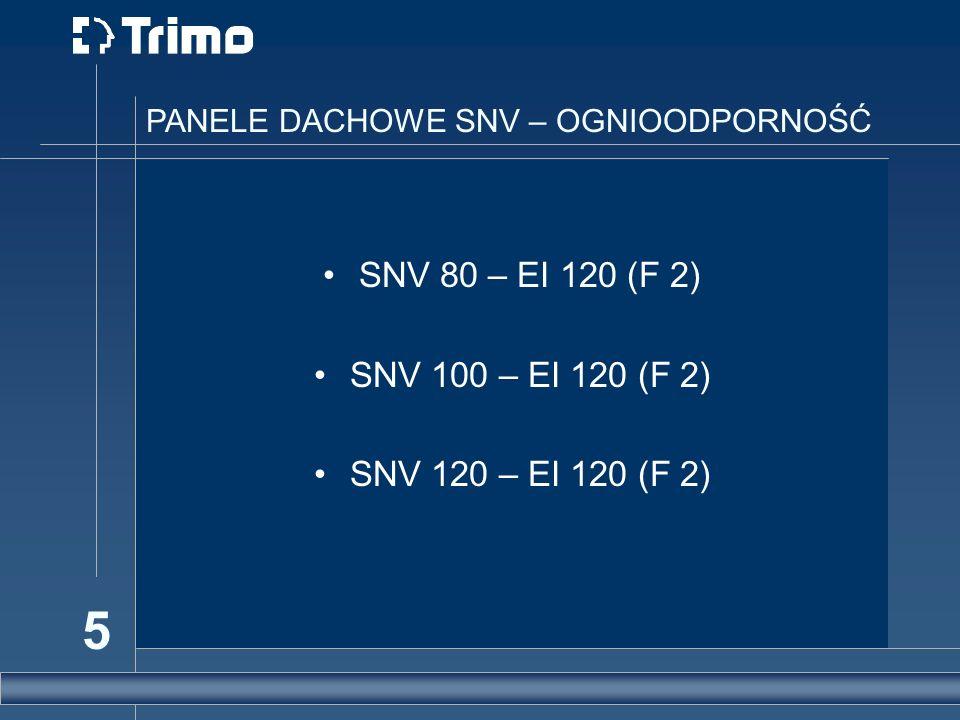 SNV 80 – EI 120 (F 2) SNV 100 – EI 120 (F 2) SNV 120 – EI 120 (F 2)