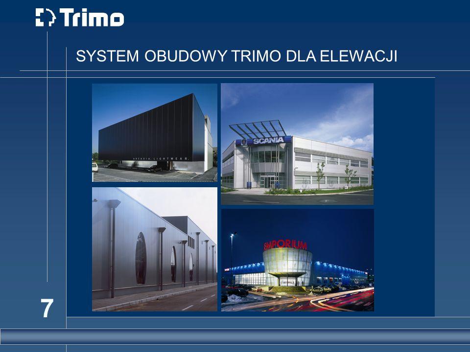 SYSTEM OBUDOWY TRIMO DLA ELEWACJI