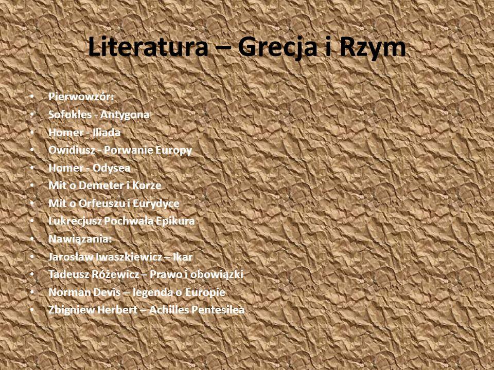 Literatura – Grecja i Rzym
