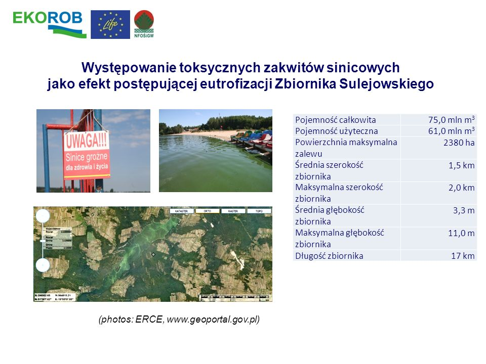 Występowanie toksycznych zakwitów sinicowych jako efekt postępującej eutrofizacji Zbiornika Sulejowskiego