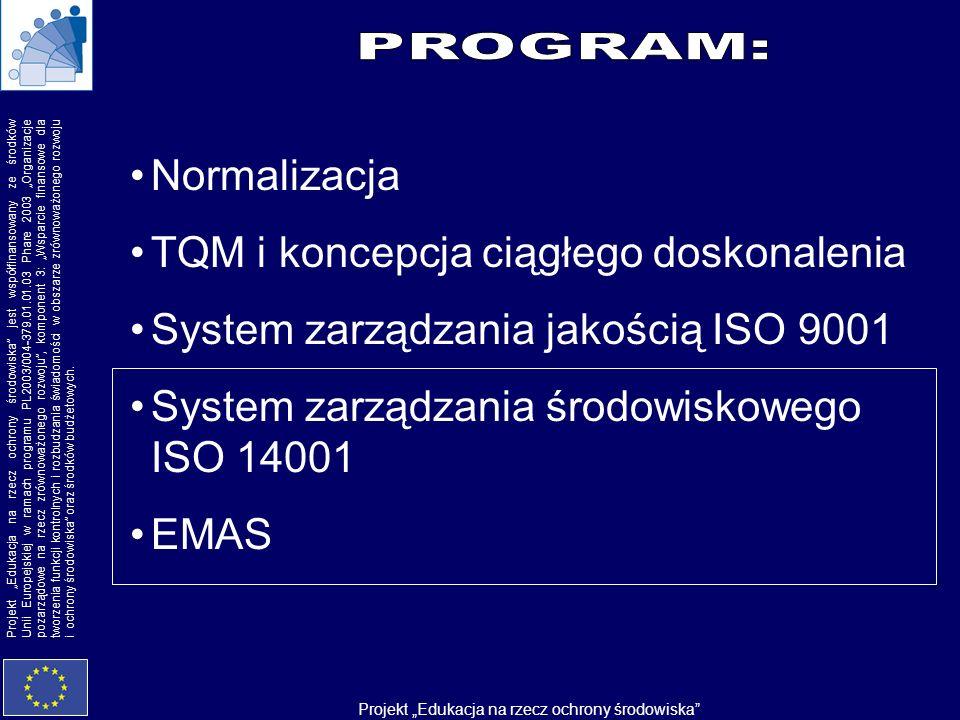 PROGRAM: Normalizacja TQM i koncepcja ciągłego doskonalenia