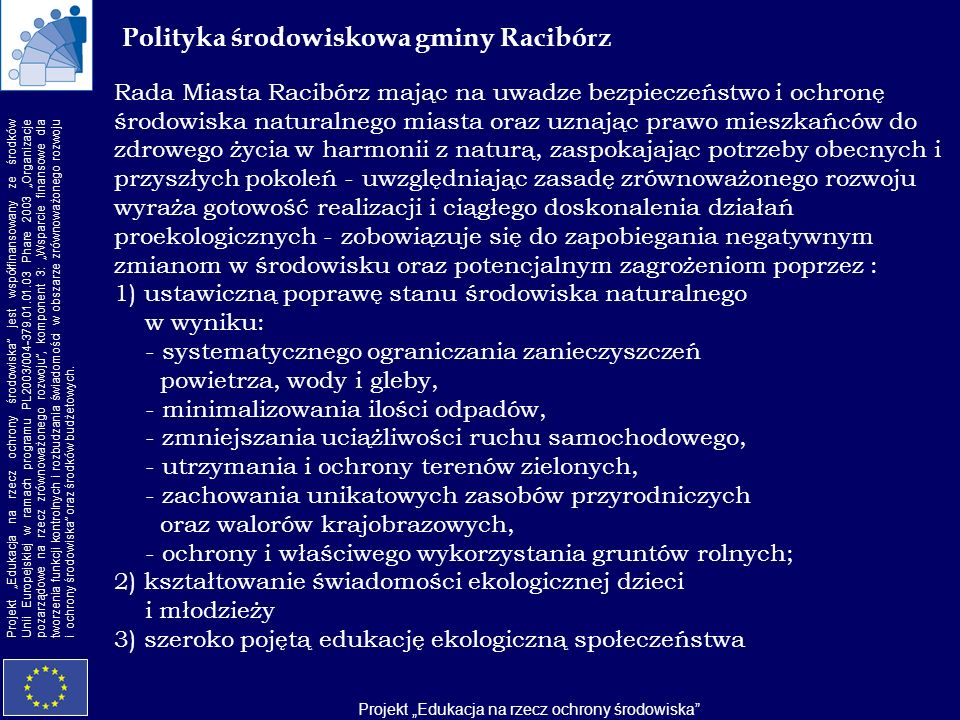 Polityka środowiskowa gminy Racibórz