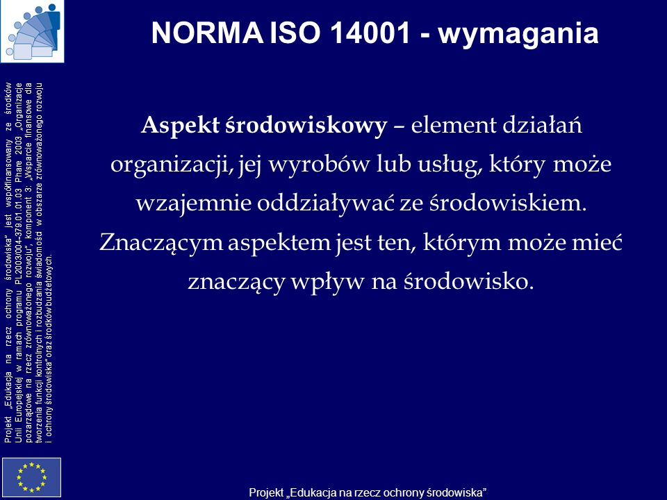 NORMA ISO 14001 - wymagania