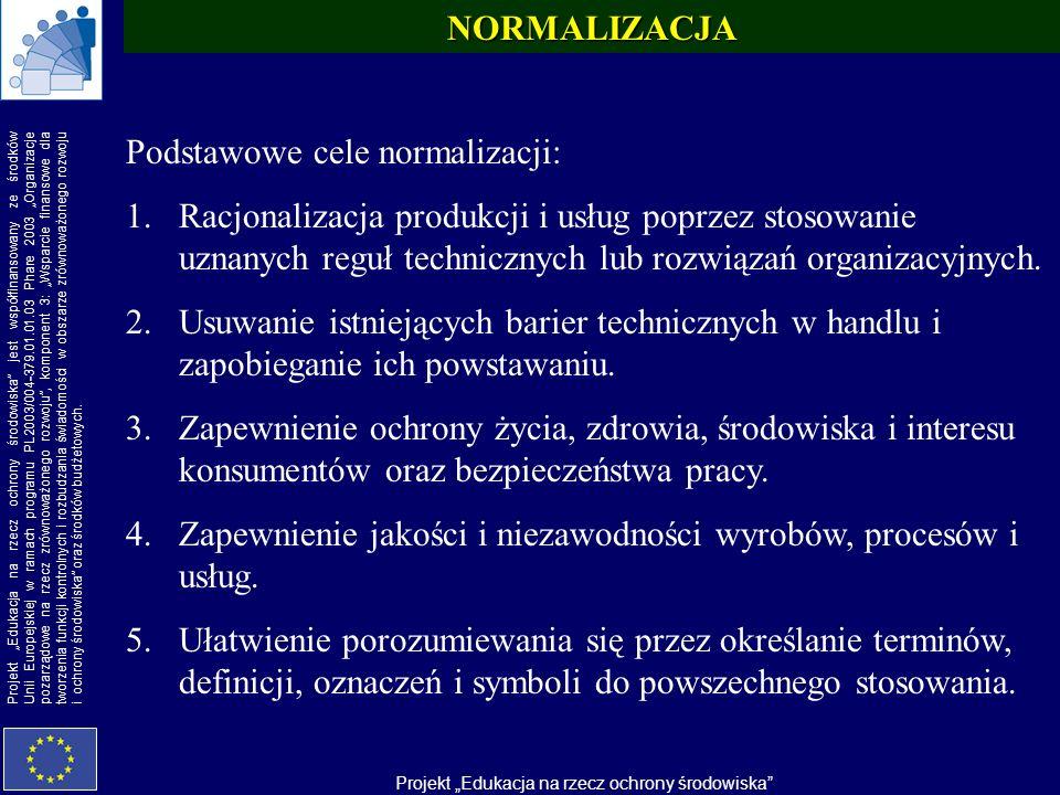 NORMALIZACJA Podstawowe cele normalizacji:
