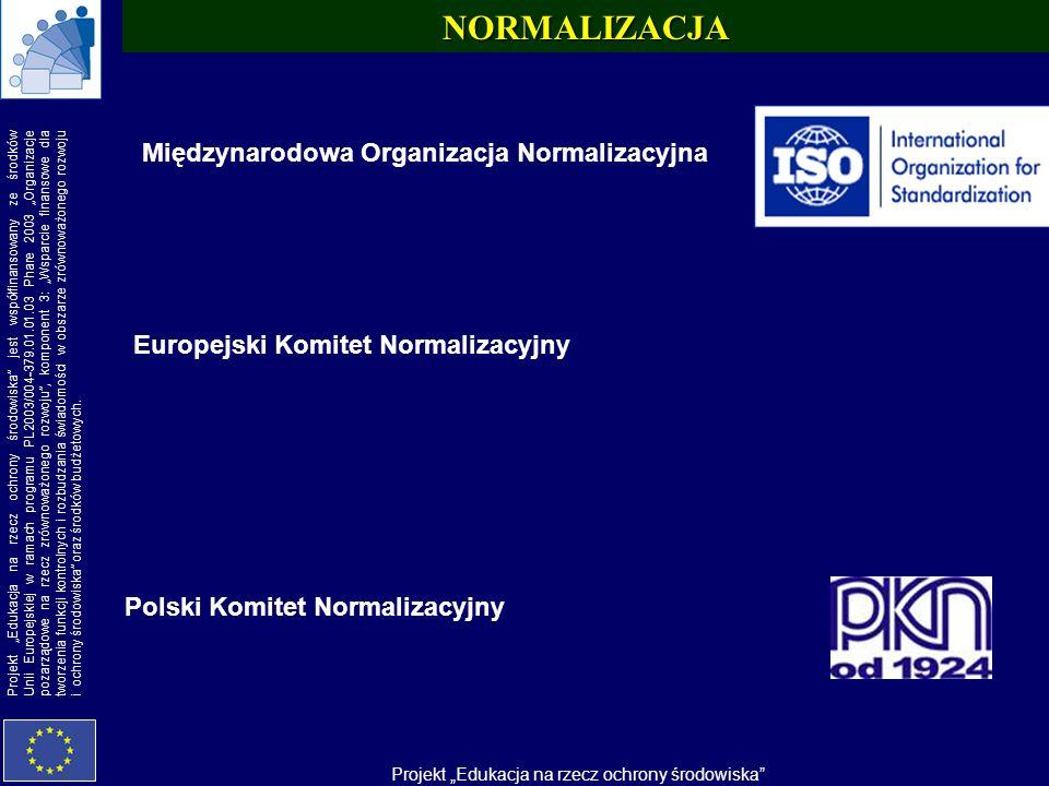 NORMALIZACJA Międzynarodowa Organizacja Normalizacyjna