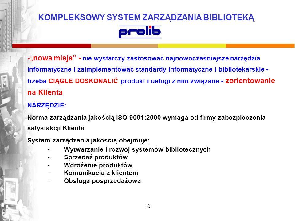 System zarządzania jakością obejmuje;