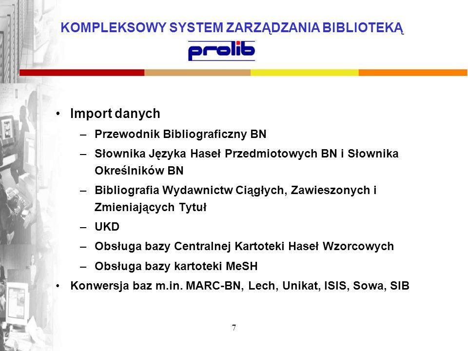Import danych Przewodnik Bibliograficzny BN