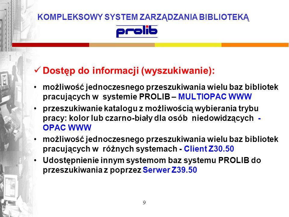Dostęp do informacji (wyszukiwanie):