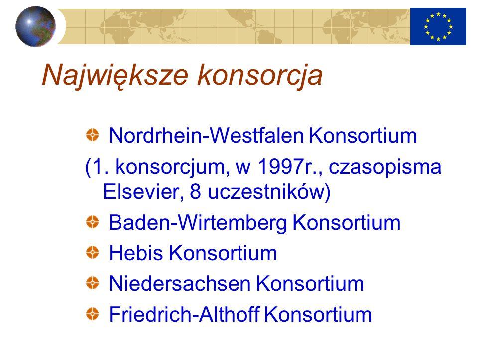 Największe konsorcja Nordrhein-Westfalen Konsortium