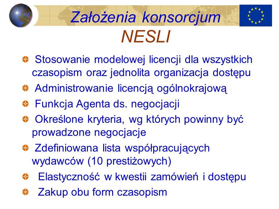 Założenia konsorcjum NESLI