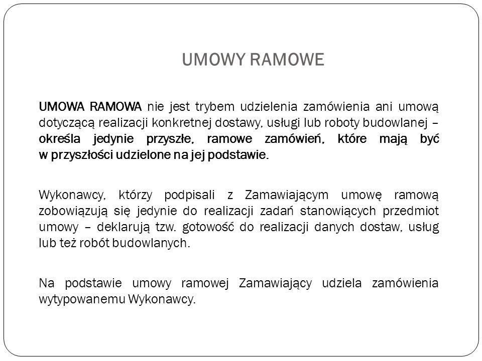 UMOWY RAMOWE