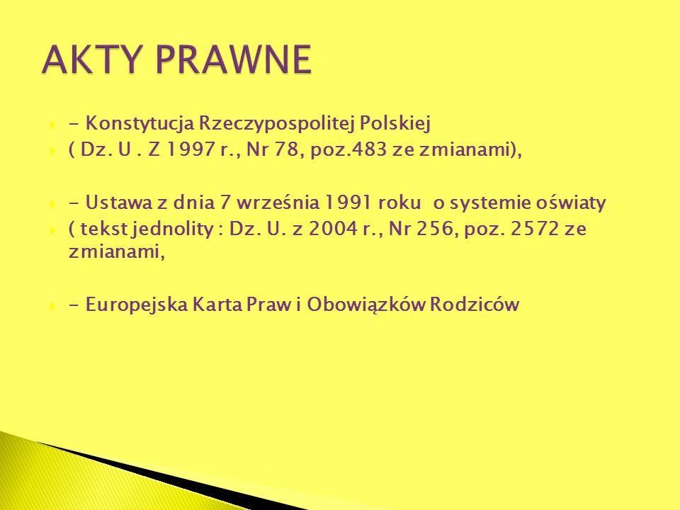 AKTY PRAWNE - Konstytucja Rzeczypospolitej Polskiej