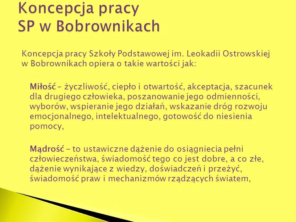 Koncepcja pracy SP w Bobrownikach