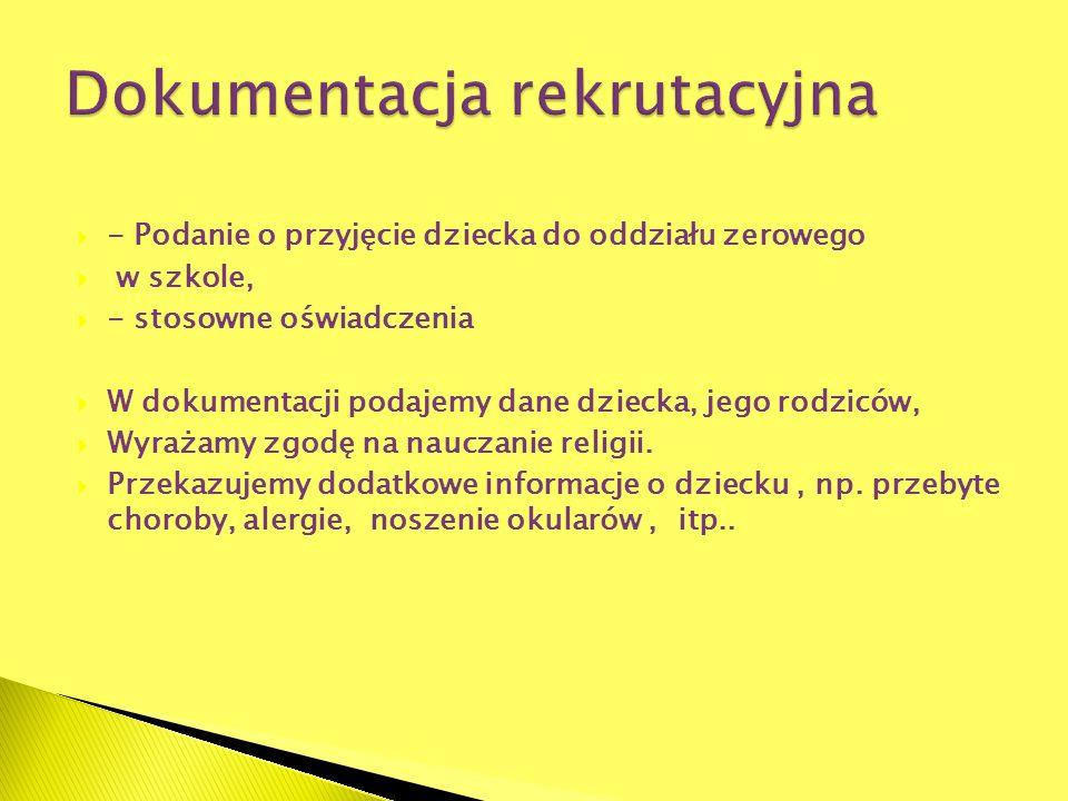 Dokumentacja rekrutacyjna