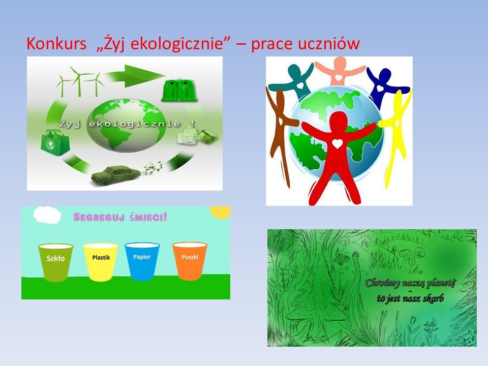 """Konkurs """"Żyj ekologicznie – prace uczniów"""