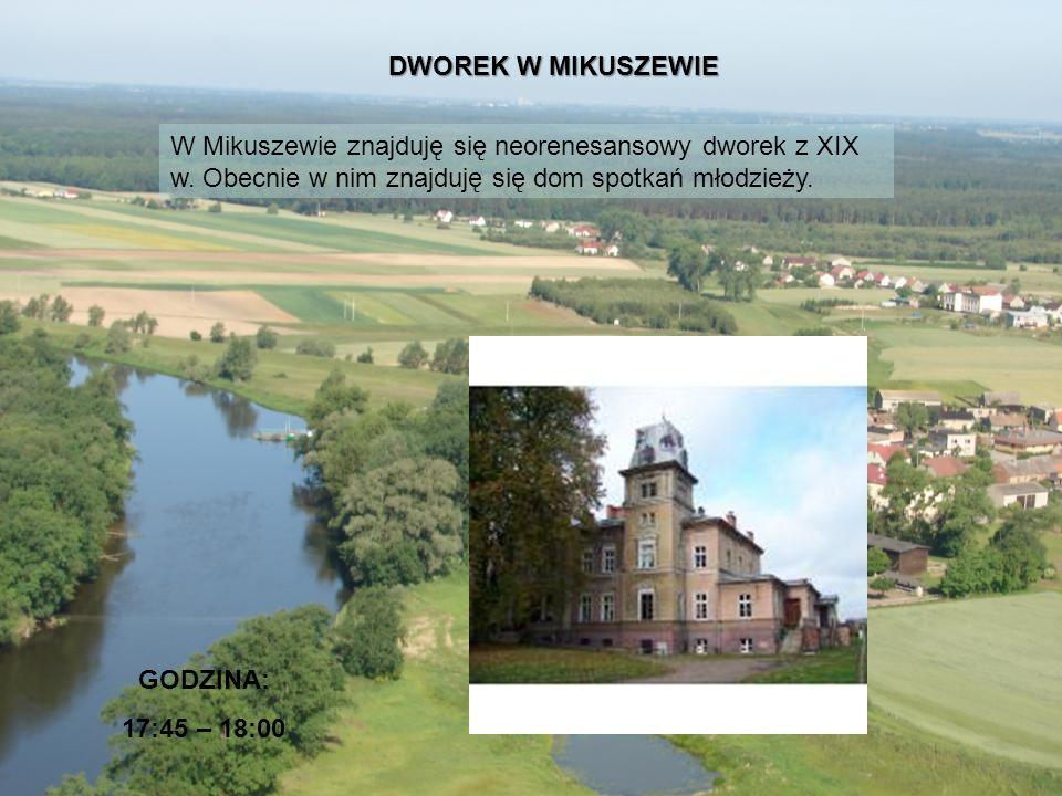 DWOREK W MIKUSZEWIE W Mikuszewie znajduję się neorenesansowy dworek z XIX w. Obecnie w nim znajduję się dom spotkań młodzieży.