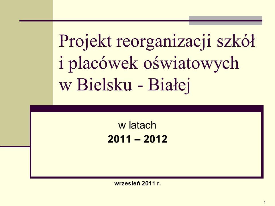 Projekt reorganizacji szkół i placówek oświatowych w Bielsku - Białej