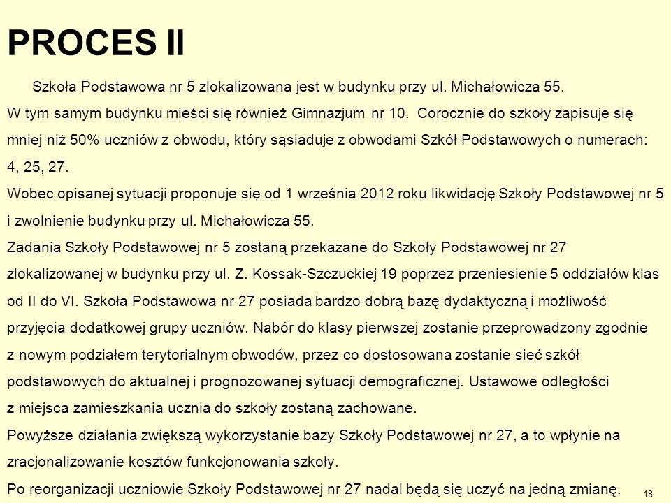 PROCES II Szkoła Podstawowa nr 5 zlokalizowana jest w budynku przy ul. Michałowicza 55.