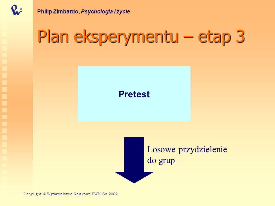 Plan eksperymentu – etap 3