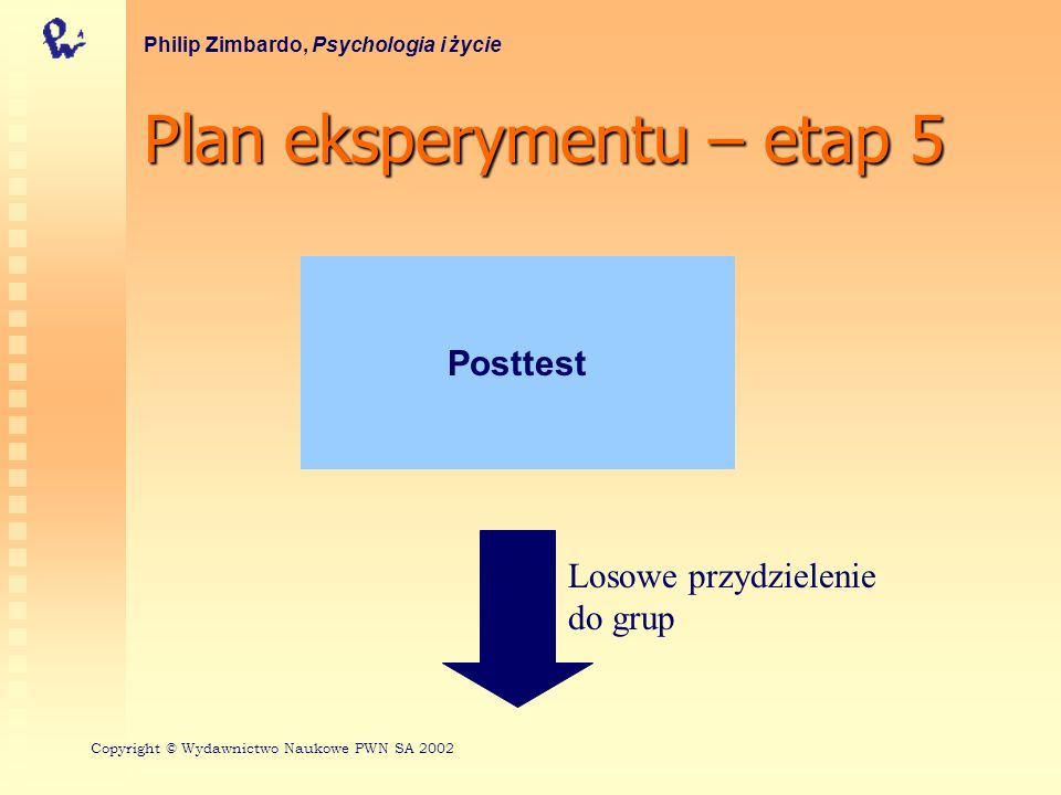 Plan eksperymentu – etap 5