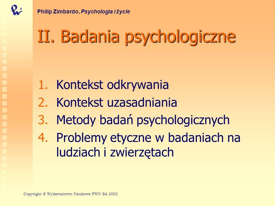 II. Badania psychologiczne