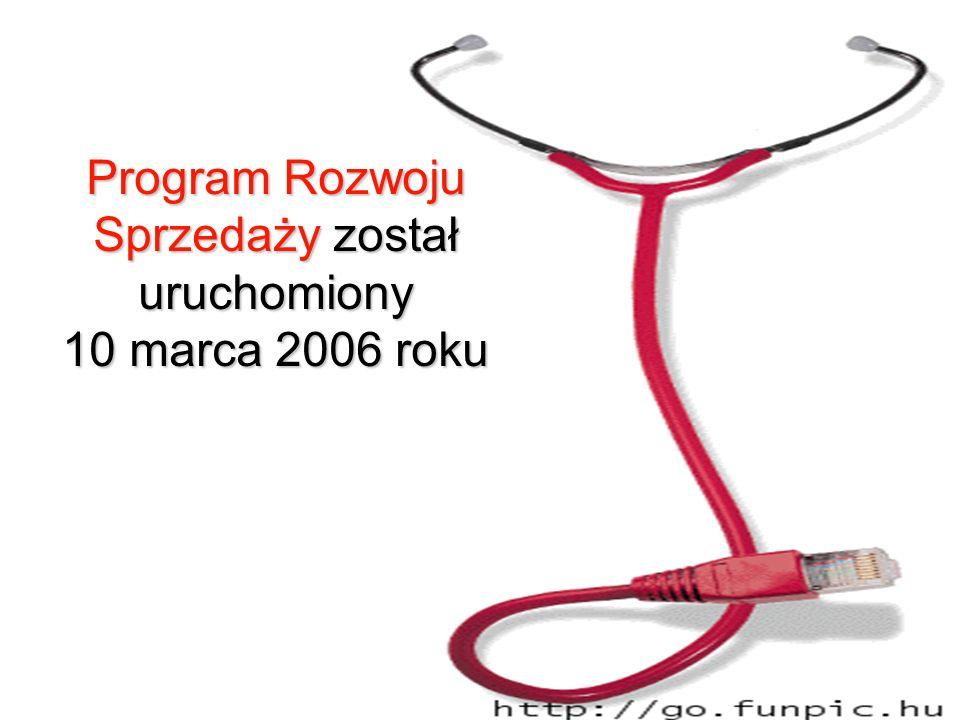 Program Rozwoju Sprzedaży został uruchomiony 10 marca 2006 roku