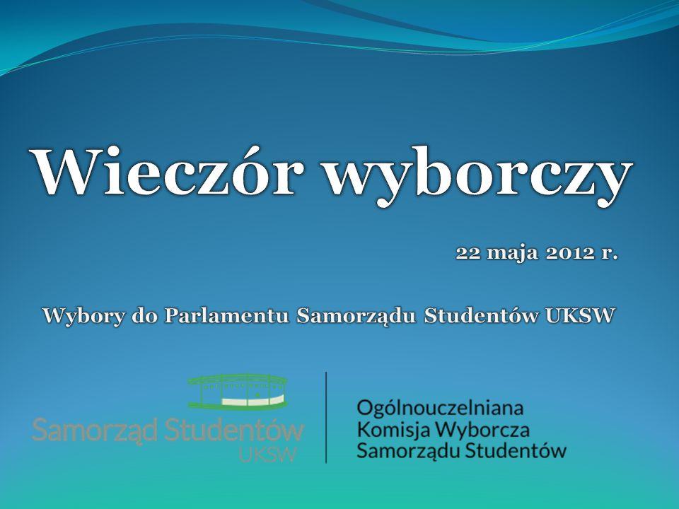 22 maja 2012 r. Wybory do Parlamentu Samorządu Studentów UKSW