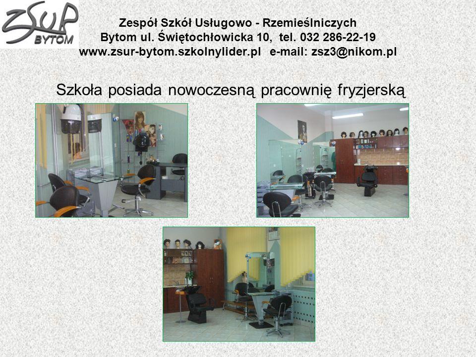 Szkoła posiada nowoczesną pracownię fryzjerską