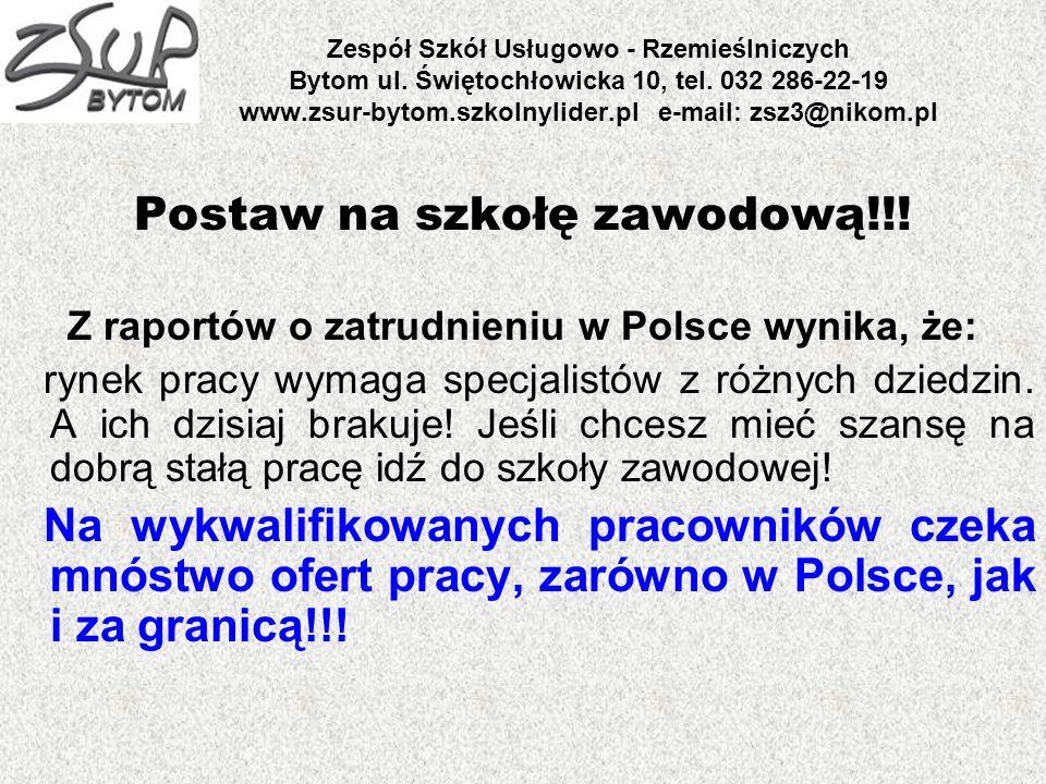 Z raportów o zatrudnieniu w Polsce wynika, że: