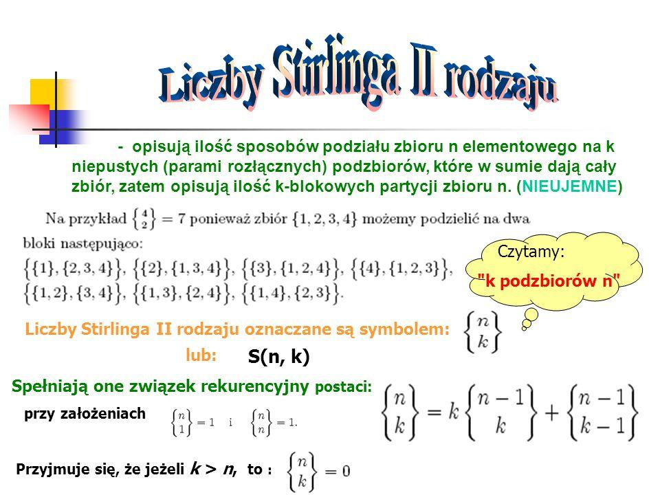 Liczby Stirlinga II rodzaju