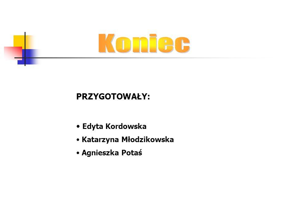 Koniec PRZYGOTOWAŁY: Edyta Kordowska Katarzyna Młodzikowska
