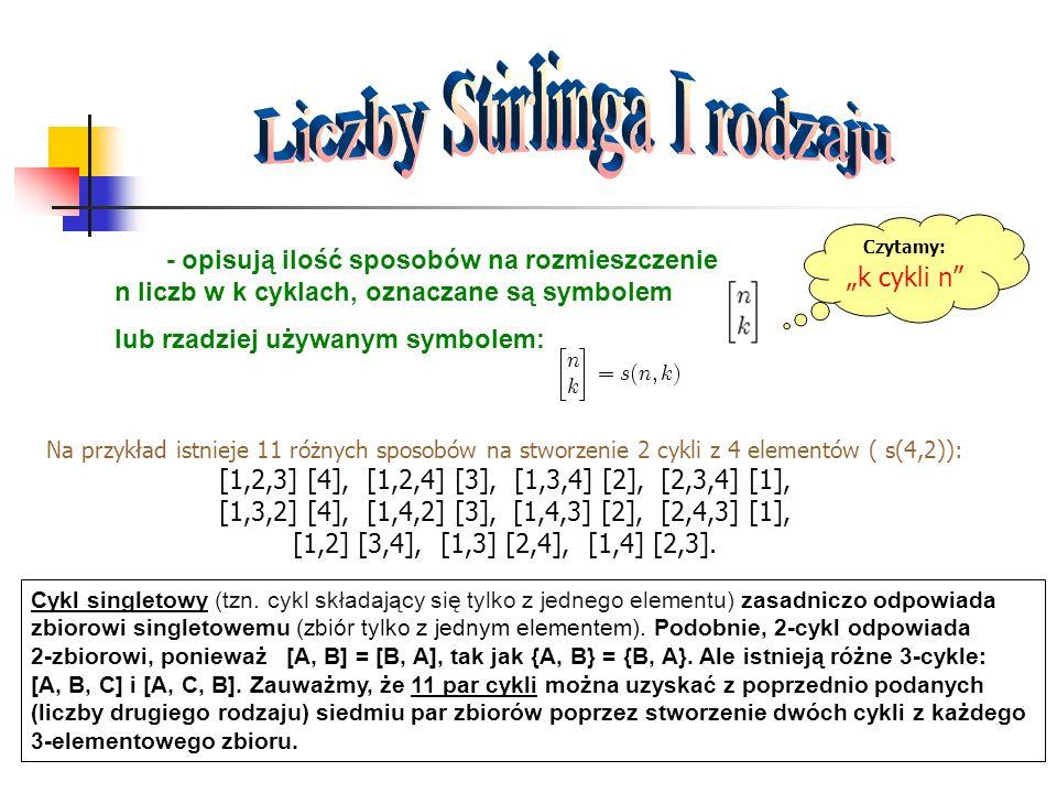 Liczby Stirlinga I rodzaju