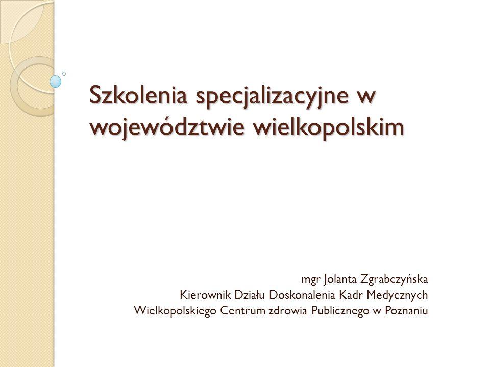 Szkolenia specjalizacyjne w województwie wielkopolskim