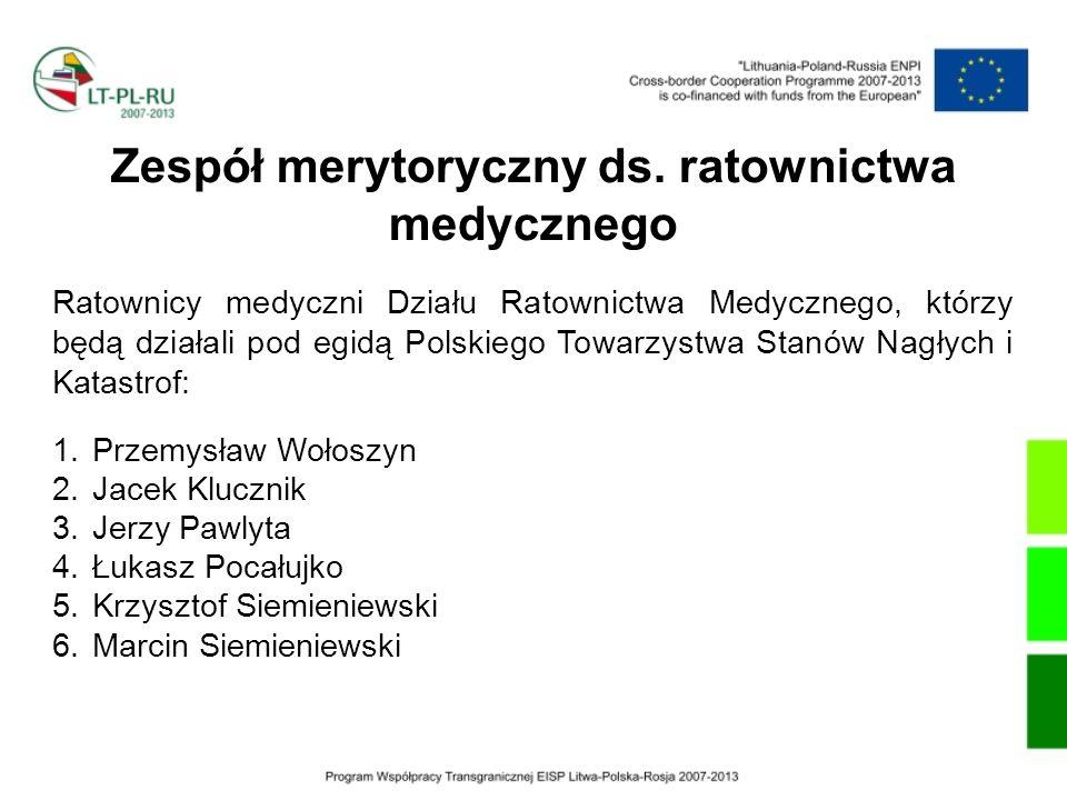 Zespół merytoryczny ds. ratownictwa medycznego