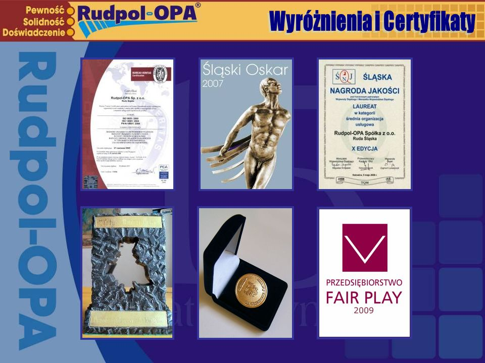 Wyróżnienia i Certyfikaty