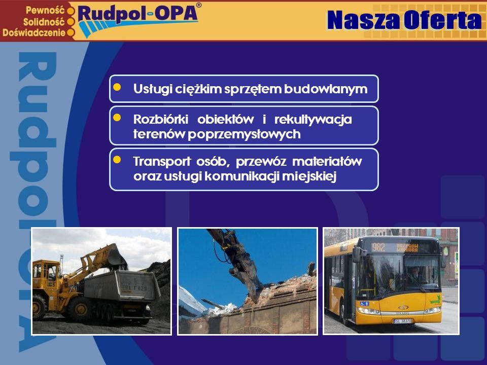Nasza Oferta Usługi ciężkim sprzętem budowlanym