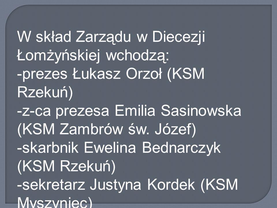W skład Zarządu w Diecezji Łomżyńskiej wchodzą: