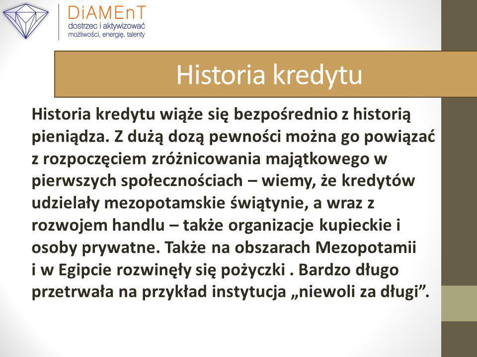 Historia kredytu