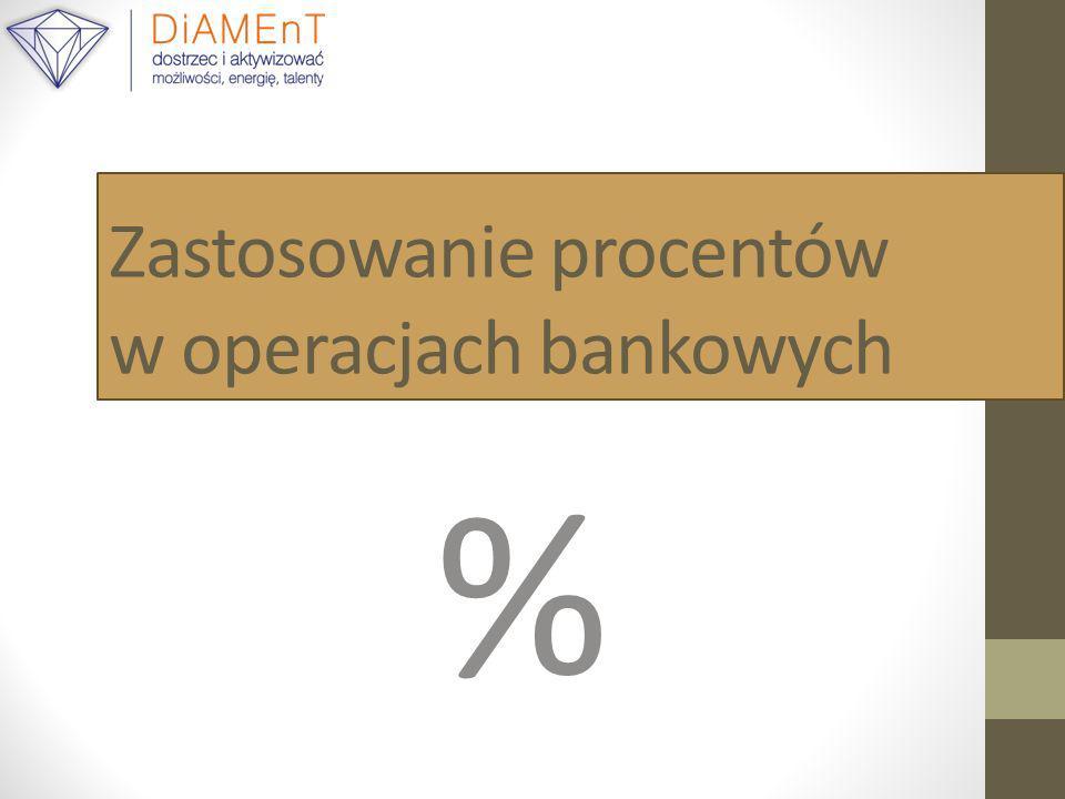Zastosowanie procentów w operacjach bankowych