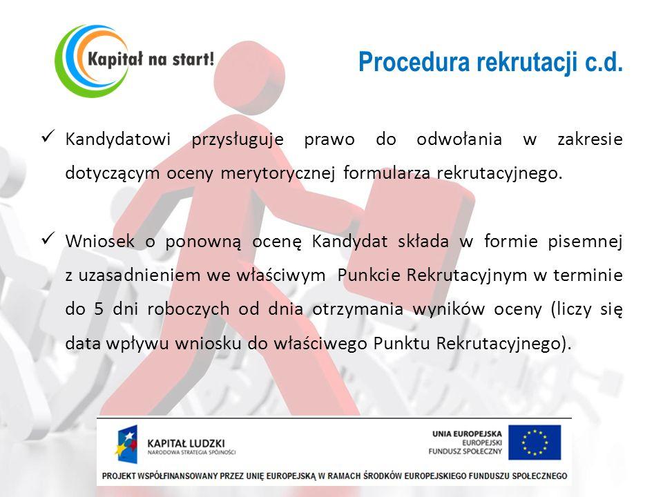 Procedura rekrutacji c.d.