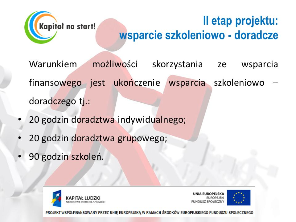 II etap projektu: wsparcie szkoleniowo - doradcze