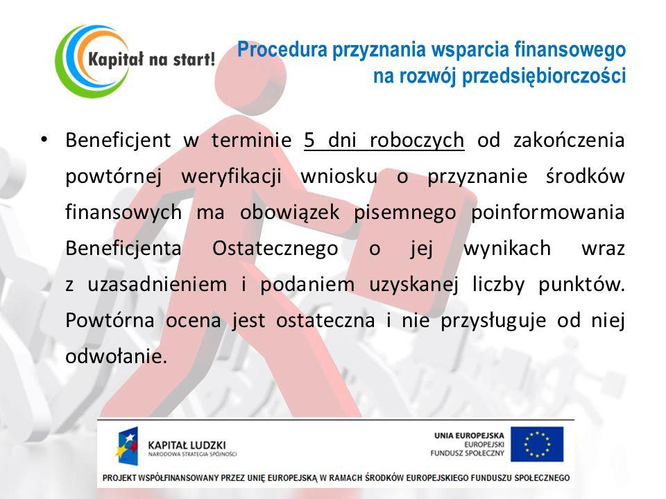 Procedura przyznania wsparcia finansowego na rozwój przedsiębiorczości