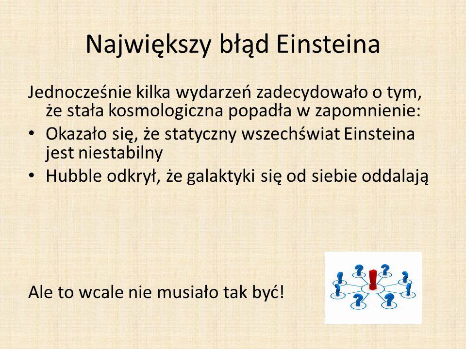 Największy błąd Einsteina