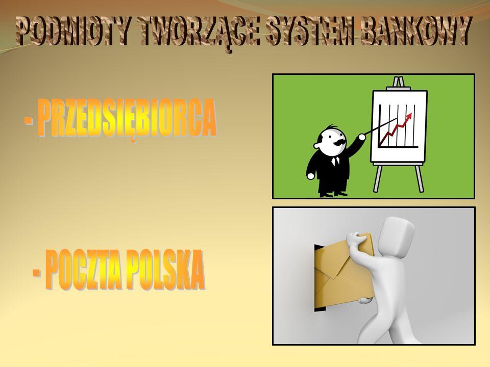 PODMIOTY TWORZĄCE SYSTEM BANKOWY