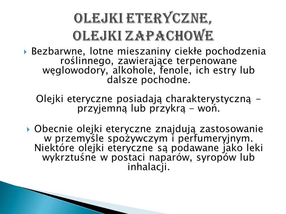 Olejki eteryczne, olejki zapachowe
