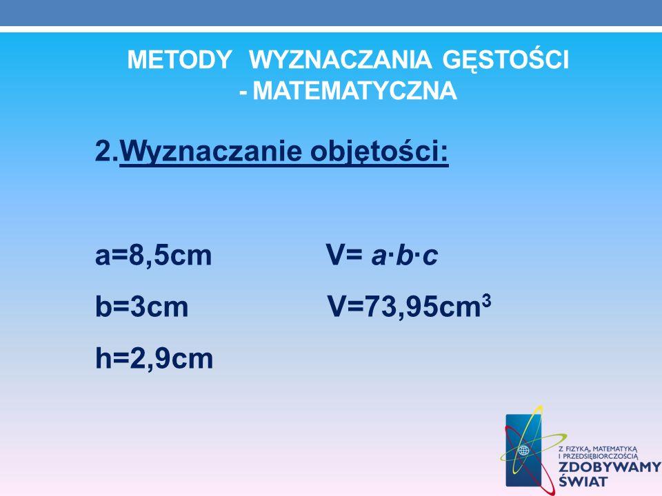 Metody wyznaczania gęstości - matematyczna