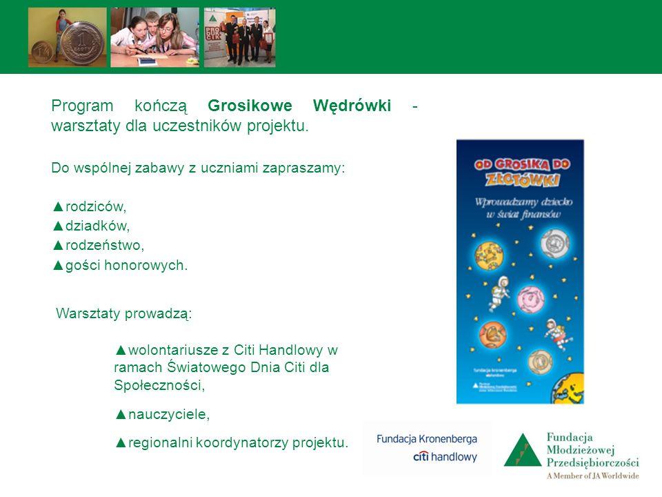 Program kończą Grosikowe Wędrówki - warsztaty dla uczestników projektu.