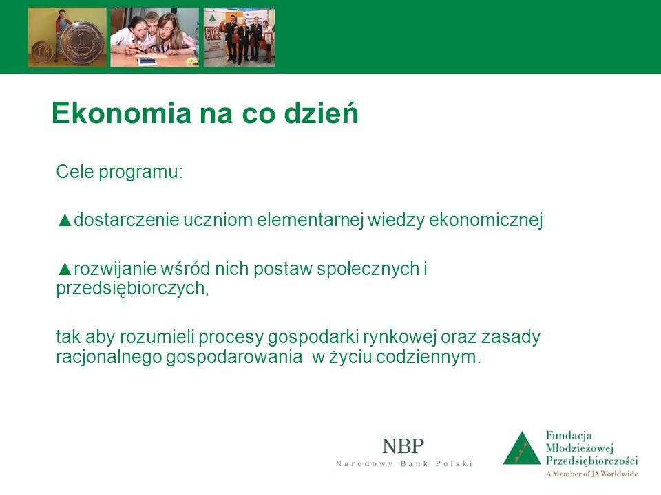 Ekonomia na co dzień Cele programu: