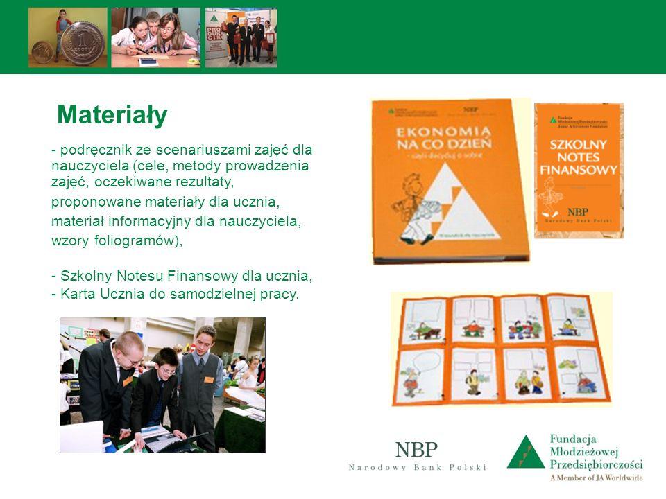 Materiały - podręcznik ze scenariuszami zajęć dla nauczyciela (cele, metody prowadzenia zajęć, oczekiwane rezultaty,