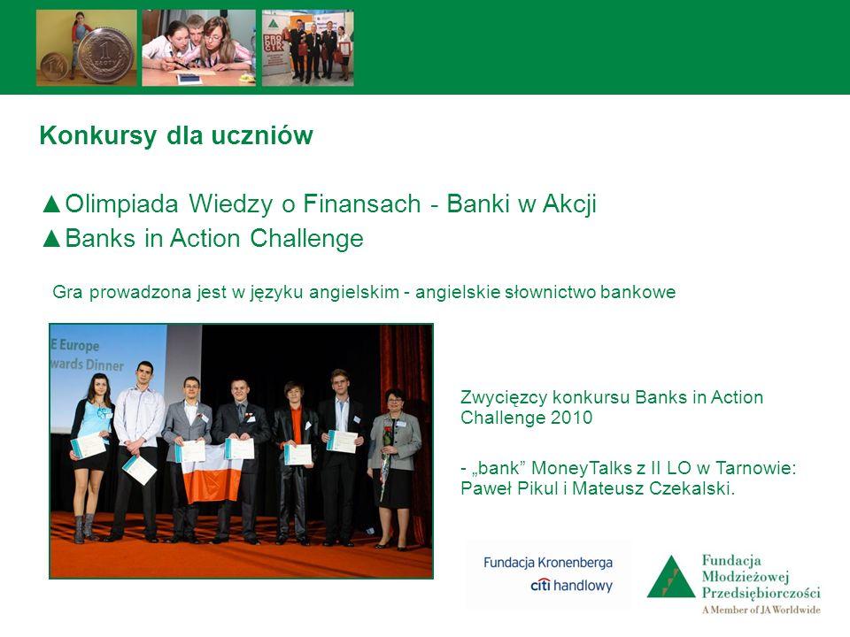 Olimpiada Wiedzy o Finansach - Banki w Akcji Banks in Action Challenge